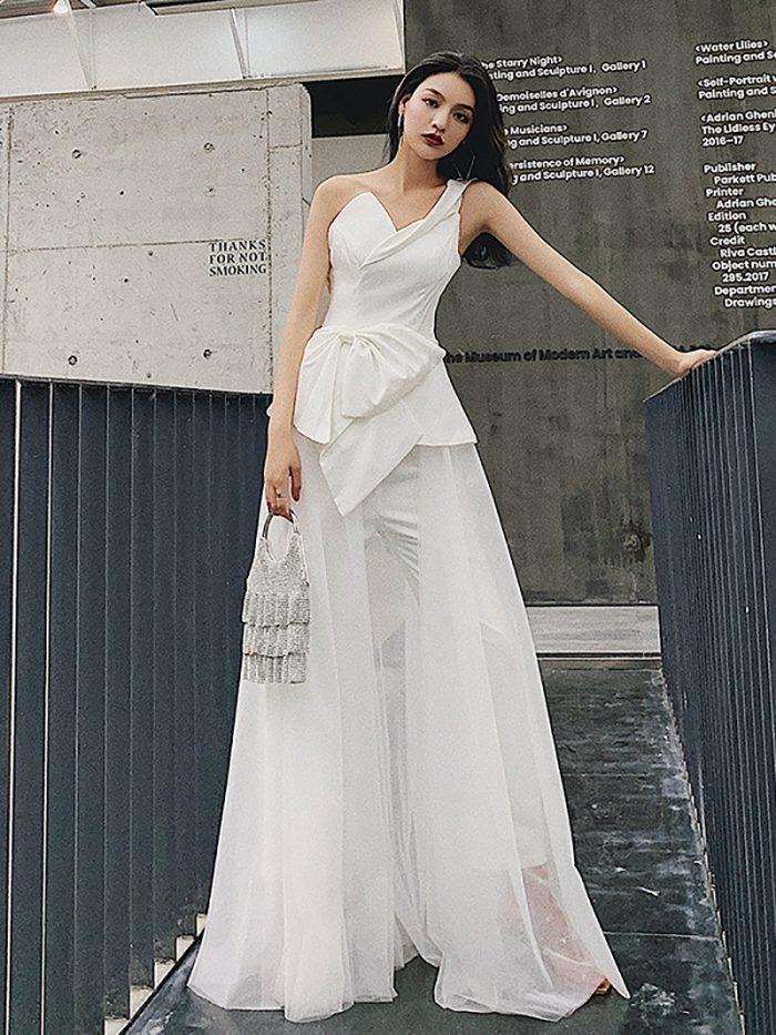ウェディングドレス 2次会 安い 3万円以内 パンツスタイル